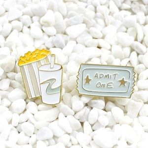 Jewelry - Vintage Movies Enamel Pin Set